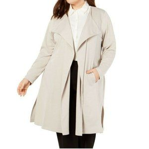 Belldini 1X Beige Belted Trench Coat NWT CC29
